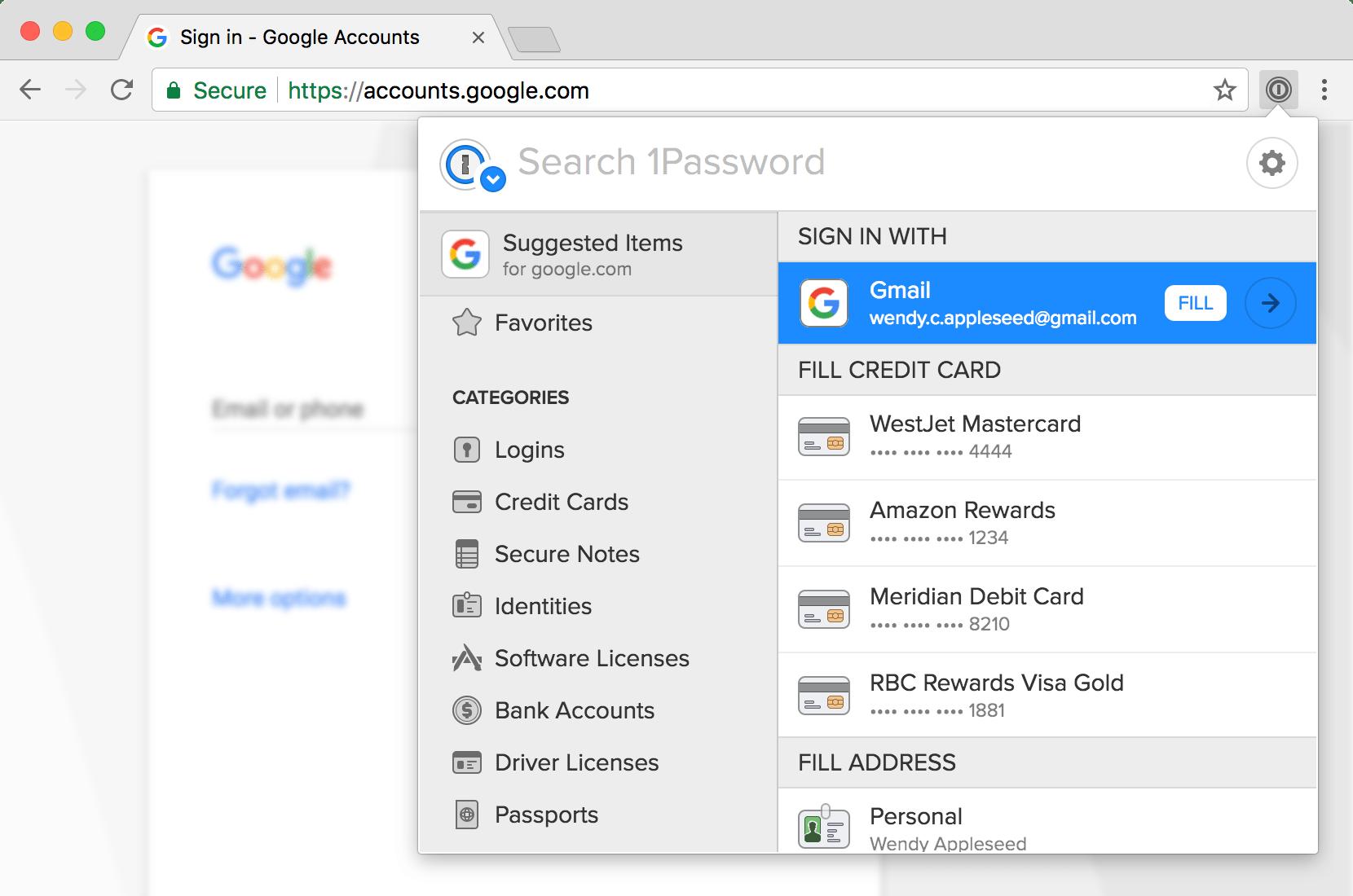 1password Browser