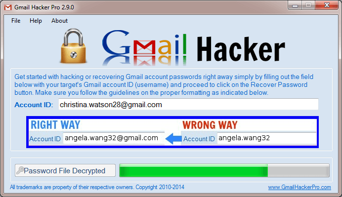 gmail account password recovery software free download